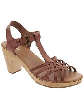 womens-block-heel-t-strap-sandals by old-navy