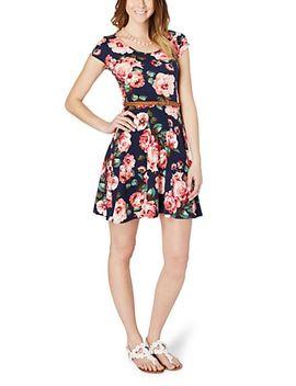 belted-floral-skater-dress by rue21