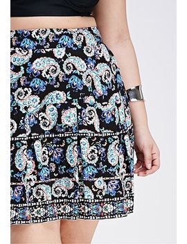 pleated-paisley-print-skirt by forever-21