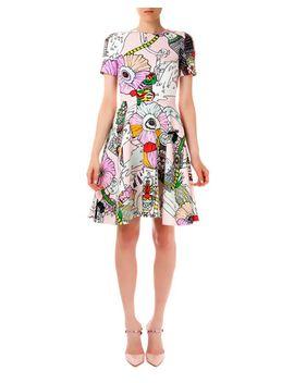 chrono-textured-poppies-candy-flounce-dress by mary-katrantzou