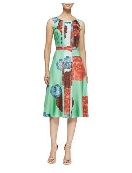 carnation-floral-twill-silk-dress by carolina-herrera