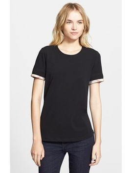 check-trim-tee by burberry
