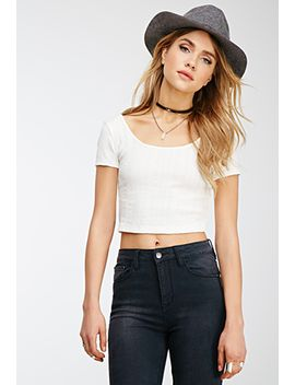 textured-knit-crop-top by forever-21