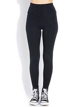 everyday-fold-over-leggings by forever-21