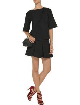the-outnetkristiana-pleated-matelassé-mini-skirt by jill-stuart