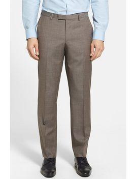 boss-sharp-flat-front-check-trousers by hugo-boss