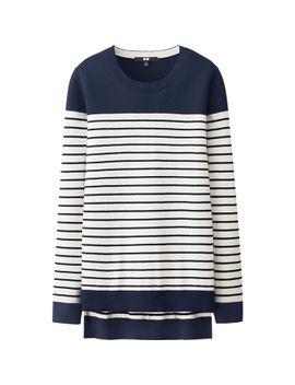 women-cotton-cashmere-striped-tunic by uniqlo