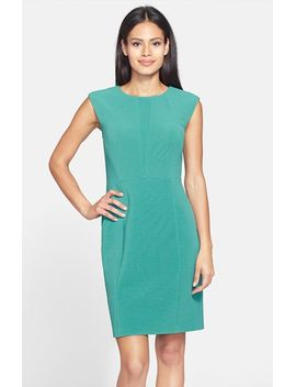 ottoman-rib-cap-sleeve-sheath-dress by halogen®