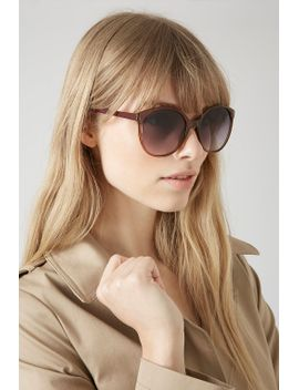 lucie-preppy-round-sunglasses by topshop