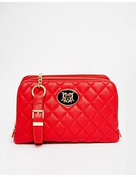 love-moschino-leather-quilted-bag-in-red by love-moschino