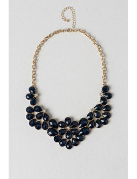 deerwood-statement-necklace-in-navy by francescas