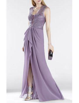 brandy-sleeveless-lace-bodice-gown by bcbgmaxazria