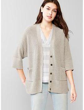 marl-oversized-swing-cardigan by gap