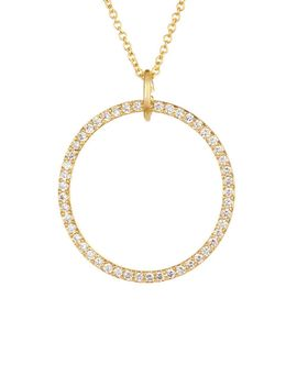 crystal-circle-pendant-necklace by rebecca-minkoff