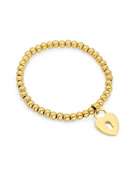 18k-gold-plated-stainless-steel-heart-lock-charm-stretch-bracelet by nordstrom-rack