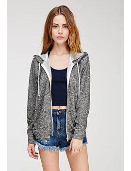 heathered-zip-hoodie by forever-21