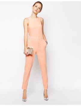 asos-plunge-back-embellished-jumpsuit by asos-collection