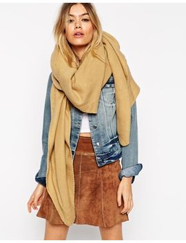 asos-plain-oversized-scarf-with-blanket-stitch by asos-collection