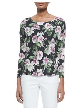 emele-floral-print-jersey-top by joie
