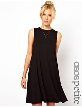 asos-petite-sleeveless-swing-dress by asos-petite