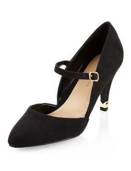 wide-fit-black-front-strap-metal-tip-heels by new-look