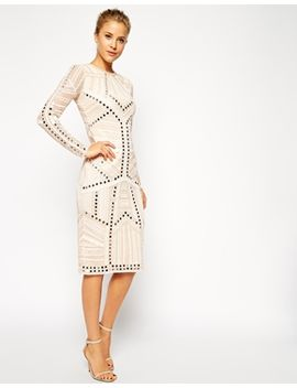 asos-mirror-and-bead-bodycon-dress by asos-collection
