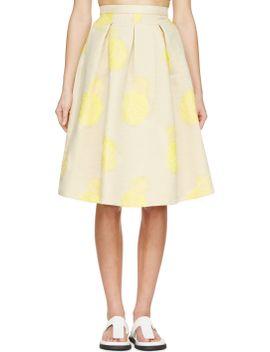yellow-pineapple-circle-skirt by msgm