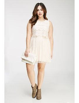 eyelash-lace-tulle-dress by forever-21