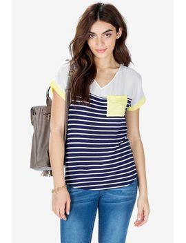 anna-easy-v-neck-striped-tee by agaci