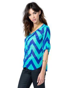 chevron-punch-blouse by agaci