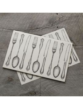 kitchen-paper-placemats---white-utensils by west-elm