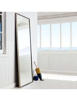 metal-framed-floor-mirror by west-elm