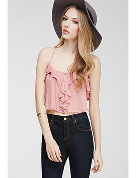 ruffle-cropped-cami-top by forever-21