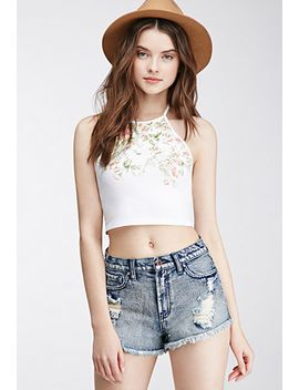 floral-print-halter-top by forever-21