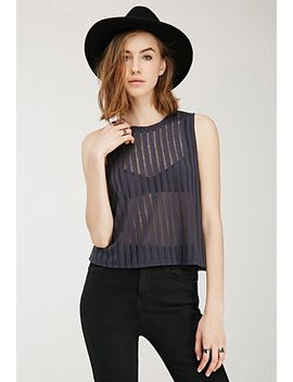 sheer-striped-top by forever-21