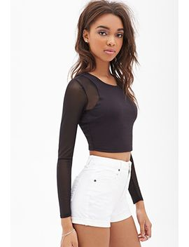 mesh-paneled-crop-top by forever-21