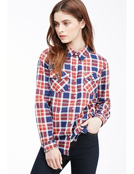 two-pocket-plaid-shirt by forever-21