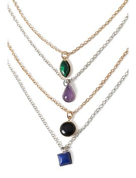 faux-stone-necklace-set by forever-21