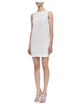 sleeveless-eyelet-sheath-dress,-white by theory-icon