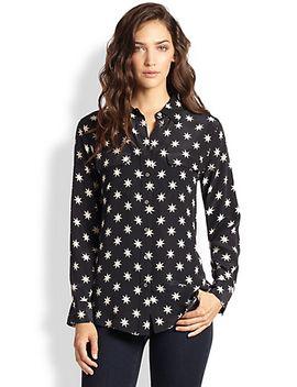 tokyo-signature-silk-star-print-shirt by equipment