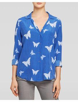 shirt---adalyn-butterfly-geo-print-silk by equipment