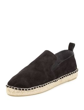 robin-suede-espadrille-flat,-black by vince