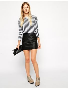 asos-mini-skirt-in-leather by asos-collection