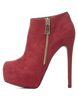 side-zip-platform-ankle-booties by charlotte-russe