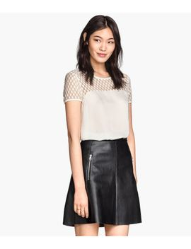 top-with-lace-yoke by h&m
