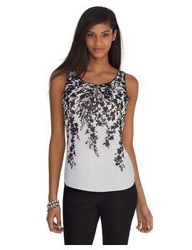 sleeveless-black-and-white-print-layering-shell by whbm