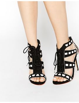 carvela-giraffe-black-strap-tie-heeled-sandals by carvela