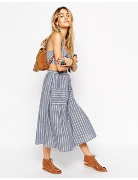 asos-co-ord-midi-skirt-with-button-through-in-stripe by asos