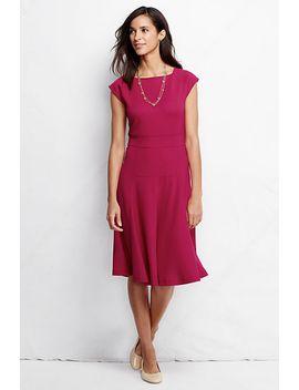 womens-ponté-flounce-skirt-dress by lands-end