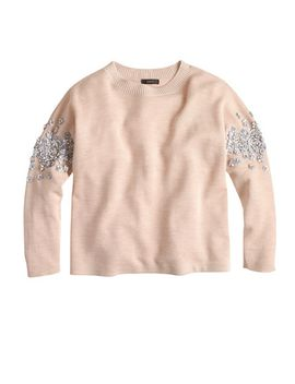 sequin-floral-sweater by jcrew